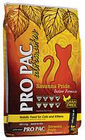 Корм беззерновой PRO PAC (Про Пак) Ultimates Savanna Pride Indoor для кошек живущих в помещении (Курица), 6 кг