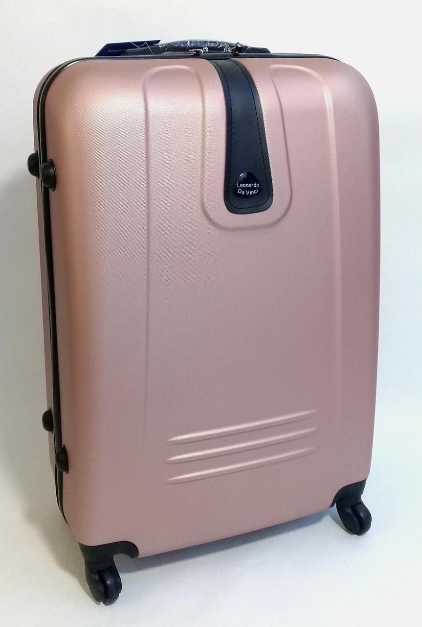 Чемодан дорожный на колесах  пластиковый, средний (М) - цвета розового  золота ae1dfc09e77