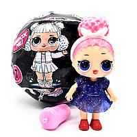 Кукла-сюрприз в шаре L.O.L Black 7 Series в чёрном шаре TOY024
