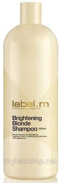 Осветляющий шампунь для блондинок LABEL.M Brightening Blonde Shampoo 1000 мл