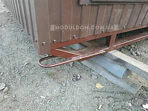 Бытовка строительная (6 х 2.4 м.) на сварных лыжах, на основе цельно-сварного металлокаркаса., фото 2