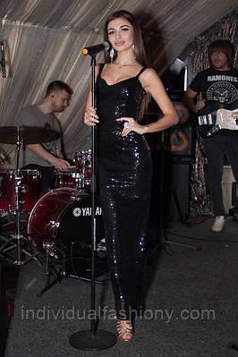 Платье в пол пайетки