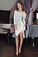 Платье асимметричное люрекс с открытыми плечами , фото 2