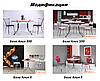 Опора для столу Алія X хром пластик сірий (AMF-ТМ), фото 3