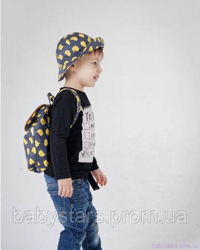 набор рюкзак и панама на малыше фото 15