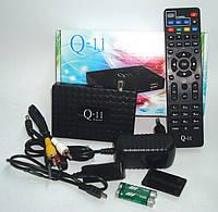 Спутниковый HD ресивер Q-SAT Q-11 с индикатором Прошит +обучаемый пульт