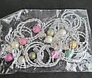 Резинки для волос с бусинами и кристаллами 12 шт/уп, фото 6