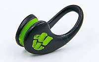 Затиск для носа для плавання в пластиковому футлярі Mad Wave ERGO TPR Чорно-зелений (СПО M071202)