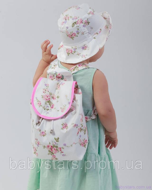 набор рюкзак и панама на малыше фото 2