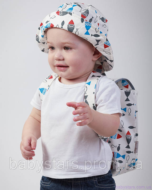 набор рюкзак и панама на малыше фото 5