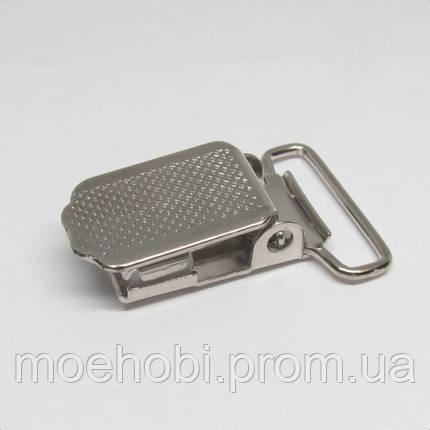 Пряжки для подтяжек (20мм) никель,  4105, фото 2