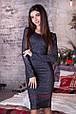 Платье-футляр миди люрекс , фото 2