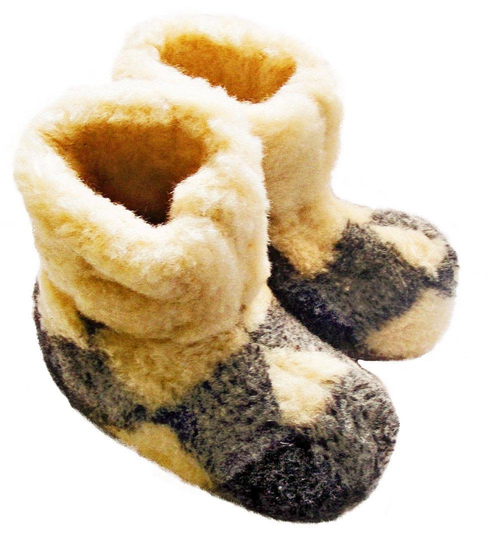 Чуни женские из шерсти мериносовой овчины 41 р. /клетка/