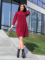Короткое свободное расклешенное платье с украшением на воротнике e15b3e5af5447