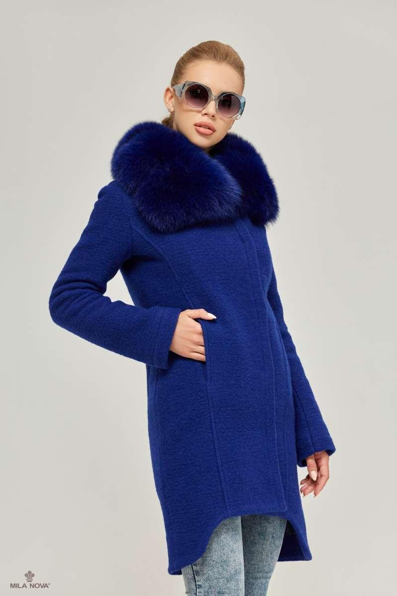 bc624ddd1bf Mila Nova Пальто ПВ-59 Синий - Интернет-магазин одежды ТОПШОП в Мариуполе