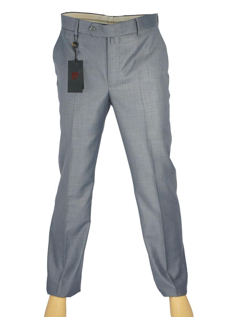 Чоловічі класичні брюки Monzeratti 0679 light grey struct сірого кольору
