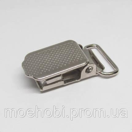 Пряжки для подтяжек (25мм) никель,  4104, фото 2
