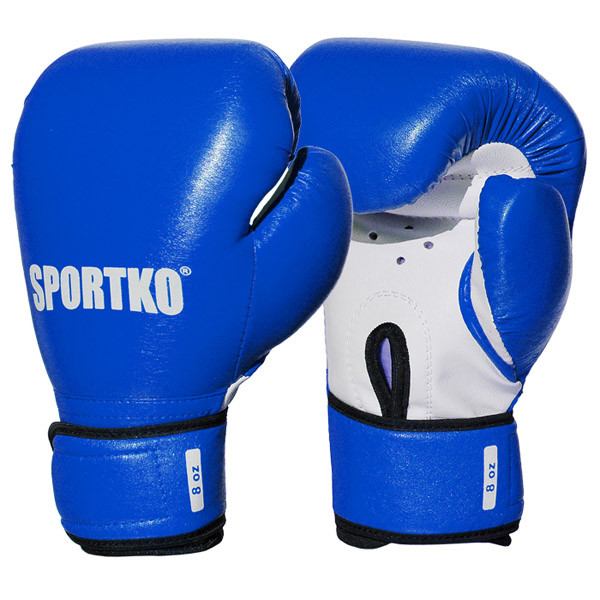 Детские боксерские перчатки SPORTKO арт. ПД2-8-OZ (унций) синий