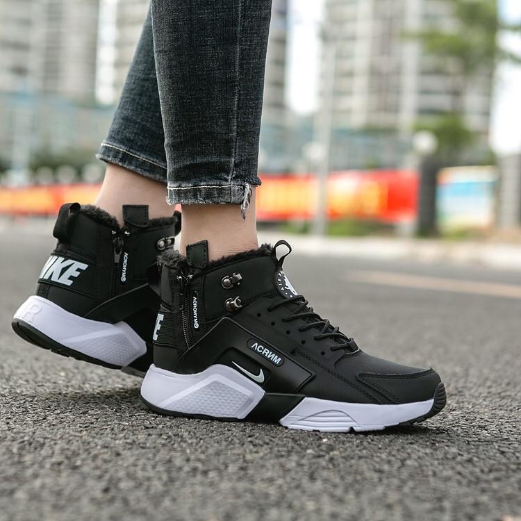 brand new 0d6a6 8bc83 Кроссовки ACRONYM x Nike air Huarache Run зимние с мехом реплика