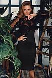 Черное эффектное платье с оборками, фото 4