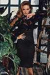 Чорне ефектне плаття з оборками, фото 4