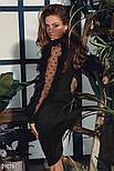 Черное эффектное платье с оборками, фото 6