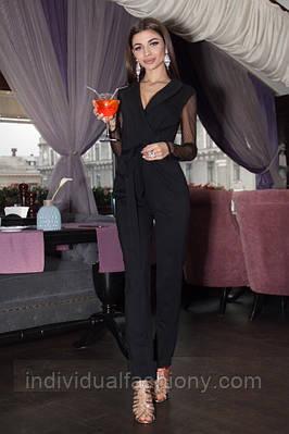 Комбинезон брюки с рукавами-сетка