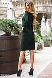 Зеленое платье-миди с пуговицами, фото 3
