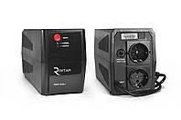 ИБП Ritar RTP500 (300W) Standby-L, LED, AVR 1st, 2xSCHUKO socket, 1x12V4.5Ah, plastik Case Q4 ( 295*140*205 )
