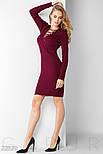 Бордовое платье-миди на шнуровке, фото 2