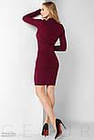 Бордовое платье-миди на шнуровке, фото 3