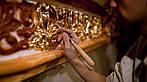 Окраска металических оград и решёток в серебристые и золотистые цвета