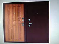 Дверь входная Уют медный антик/золотой дуб 860*2050