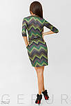 Стильное зеленое платье-миди с принтом, фото 3
