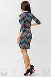 Стильное голубое платье-миди с принтом, фото 3