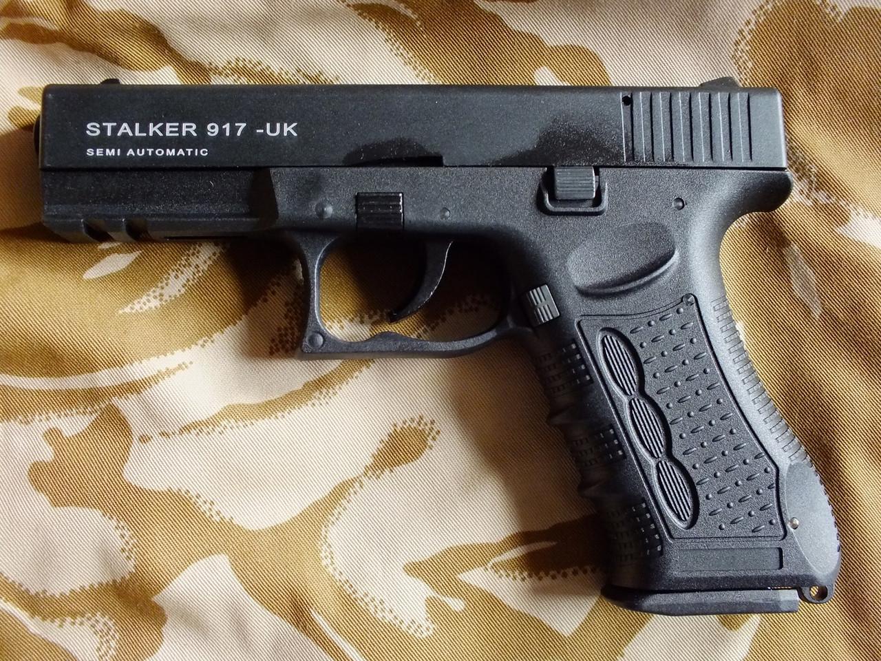 Сигнальный пистолет Atak Arms Stalker 917 Black+50 холостых Ozkursan
