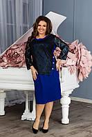 Женское батальное платье,размеры:54,56,58,60., фото 1
