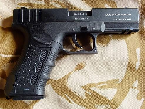 Сигнальный пистолет Atak Arms Stalker 917 Black+50 холостых Ozkursan, фото 2