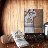 Набор кухонных полотенец VAHOME Premium Coffee, 2ед.