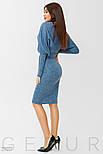 Стильное платье-реглан синего цвета, фото 2