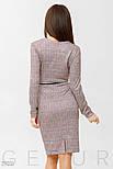 Офисное платье розового цвета с поясом, фото 3