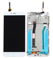 Дисплей (экран) для Xiaomi Mi4 + тачскрин, белый, с передней панелью