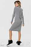Теплое платье серого цвета с белым орнаментом, фото 4