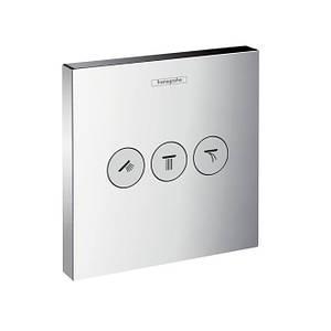 Запорно-переключающий вентиль на 3 потребителя Hansgrohe Shower Select 15764000 хром