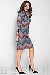 Фиолетовое платье-миди с геометрическим принтом, фото 2