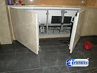 Люк нажимной EURO-N в шкафы и пеналы для ванных комнат
