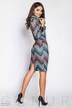Женское платье-хомут голубого цвета, фото 2