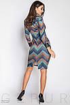 Женское платье-хомут голубого цвета, фото 3