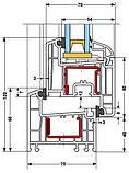 Окна металлопластиковые Rehau E70 5-камерный 1,30х1,40, кв.м, фото 2