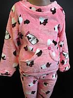 Махровые пижамы на зиму для девочек., фото 1